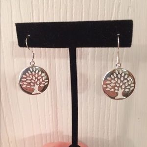 Jewelry - Silver tone Tree of Life Earrings